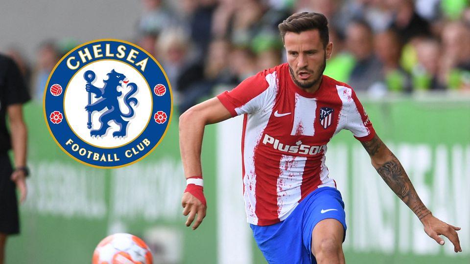 Saul Niguez, Atletico Madrid, Chelsea badge