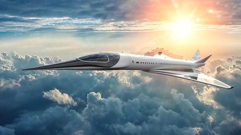 Futuristisches Flugzeug soll in drei Stunden von Paris nach New York fliegen.