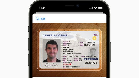 Die von Apple entwickelte digitale ID als Screenshot