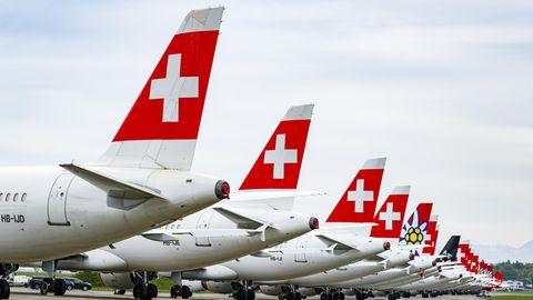 Flugzeuge der Airline Swiss