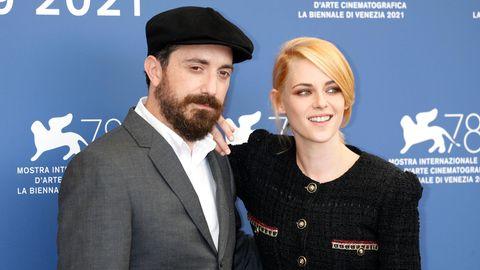 Regisseur Pablo Larrain und Schauspielerin Kristen Stewart auf dem Filfestival in Venedig