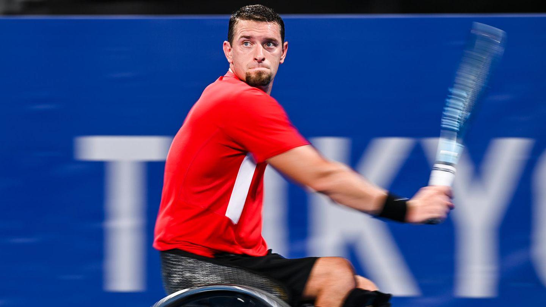 Der belgische Rollstuhltennis-Spieler Joachim Gerard