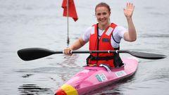 Edina Müller, 38, Gold im Kanu-Sprint über 200 Meter (KL1)