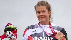 Felicia Laberer, 32, Bronze im Kanu-Sprint über 200 Meter (KL3)