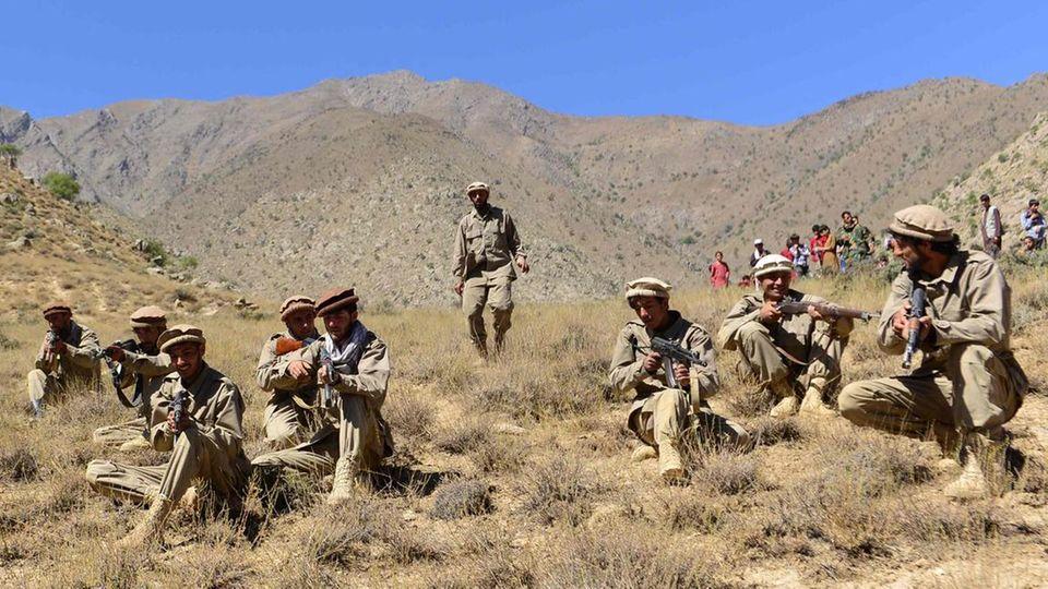 Widerstandskämpfer gegen die Taliban im Pandschirtal