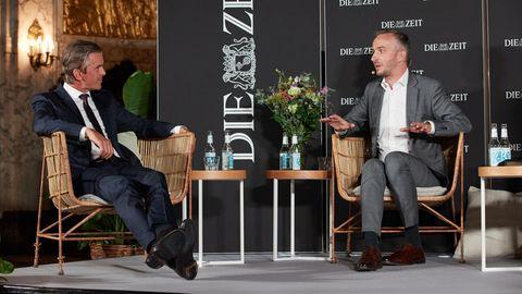 Jan Böhmermann und Markus Lanz