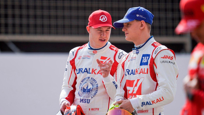 Antitypen: Nikita Masepin und Mick Schumacher (r.)