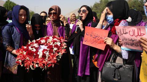 Frauendemo in Kabul