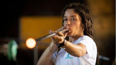 Glasbläserin auf Mallorca