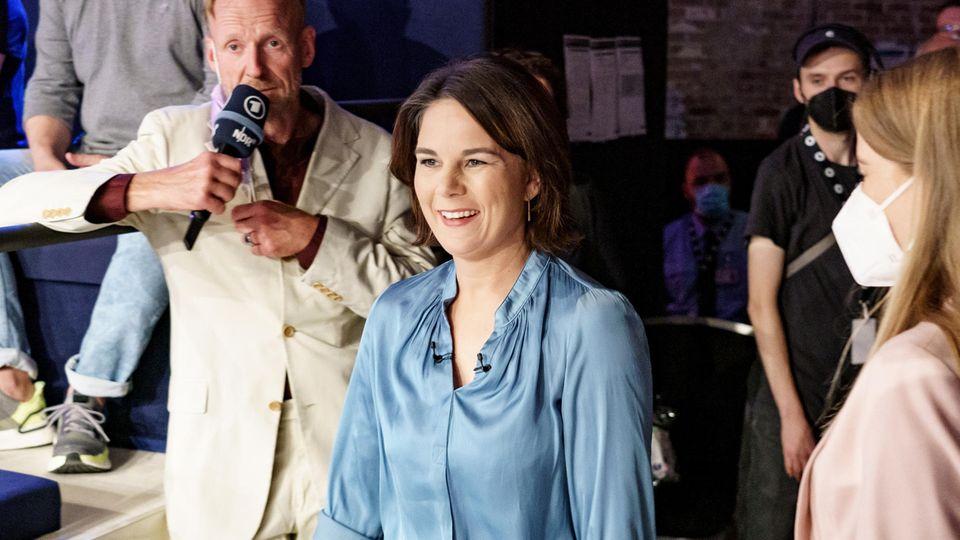 Annalena Baerbock erreicht die ARD-Wahlarena