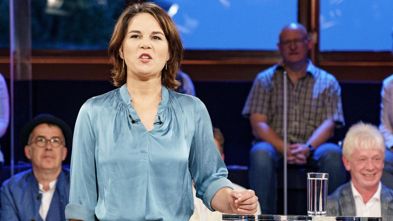 Annalena Baerbock während der ARD-Wahlarena in Lübeck