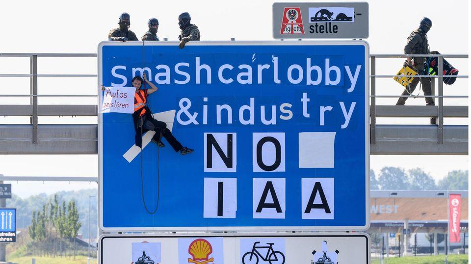 Proteste: Der erste Tag der IAA bietet einen Vorgeschmack auf das Chaos, das München droht