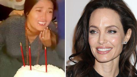 Angelina Jolie drückt Salma Hayeks Gesicht in ihre Geburtstagstorte – und das hat Tradition