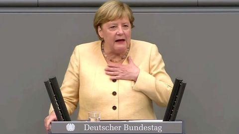 """Merkel zeigt sich bei ihrer letzten Rede angriffslustig: """"Meine Güte, was für eine Aufregung!"""""""