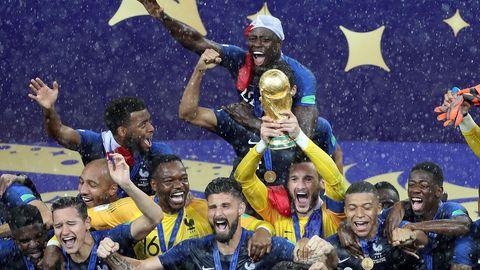 Glückliche Franzosen: 2018 stemmten Les Bleus die WM-Trophäe in den Moskauer Himmel