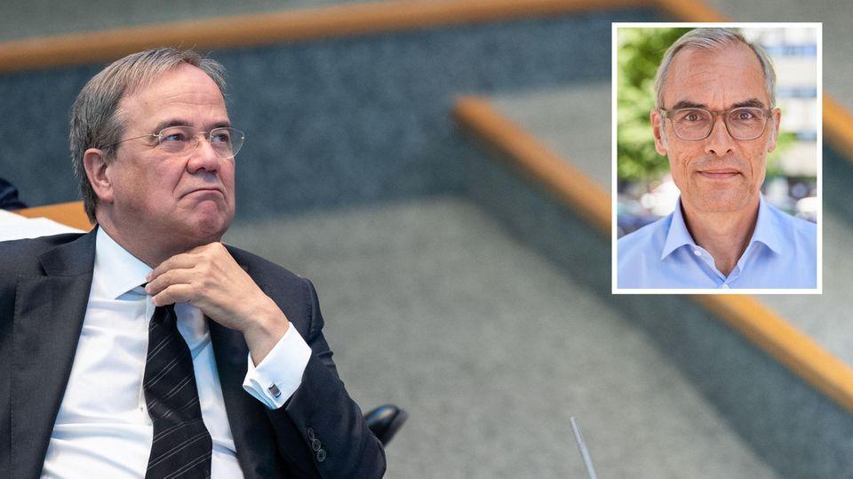 Armin Laschet schaut skeptisch auf Frank Schmiechen