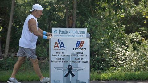Paul Veneto auf seinem Weg von Boston nach New York