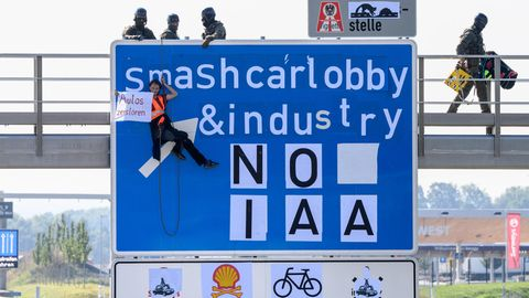 Blockade Autobahn IAA