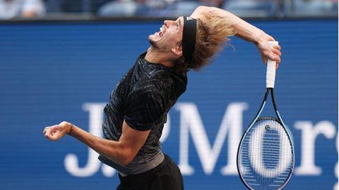 Der 24-jährige Alexander Zverevfeiert im Viertelfinale der US Open seinen 16. Sieg in Serie