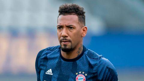 Jerome Boatengim Trikot des FC Bayern München, seit kurzem steht er bei Olympique Lyon unter Vertrag