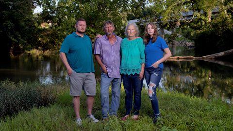 Die Johnsons photographed in Lyerly. Von links: Josh Johnson, Joe Johnson, Jan Johnson und Justine Johnson
