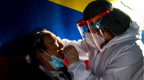 Corona-Test in Kolumbien