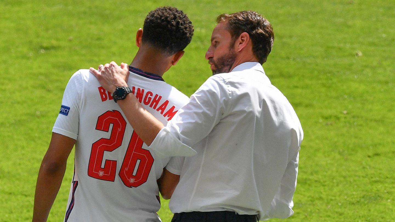 Jude Bellingham Gareth Southgate England vs Croatia Euro 2020
