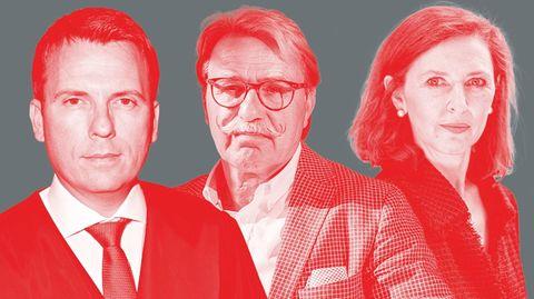 Die Experten Jens Rabe, Jürgen Schmidt und Nahlah Saimeh