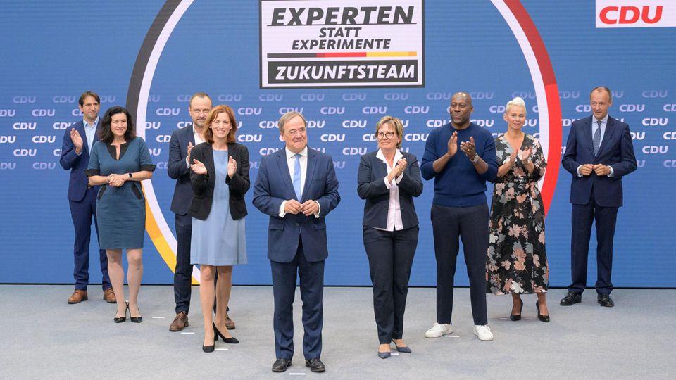 Das Zukunftsteam des Kanzlerkandidaten Armin Laschet –mit Leerstellen