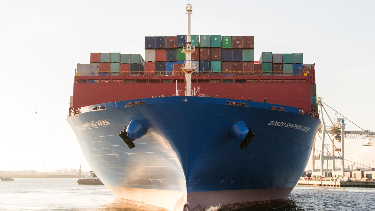 """Containerschiff """"Cosco Shipping Aries"""""""