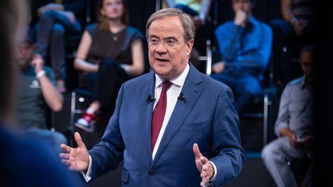 """Armin Laschet spricht in der ZDF-Sendung """"Klartext"""""""