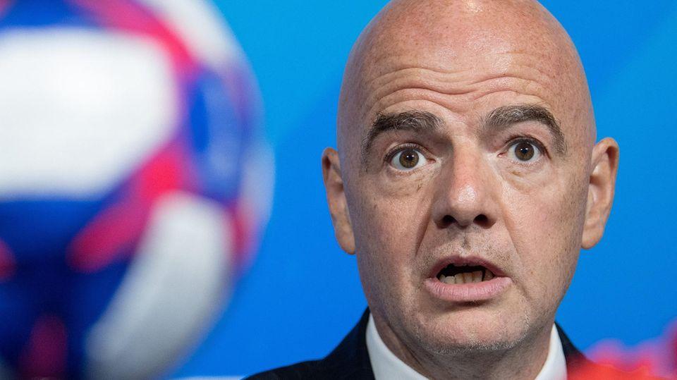 Fifa Präsident Gianni Infantino findet seine Idee, den Turnier-Rhythmus zu verkürzen,gut