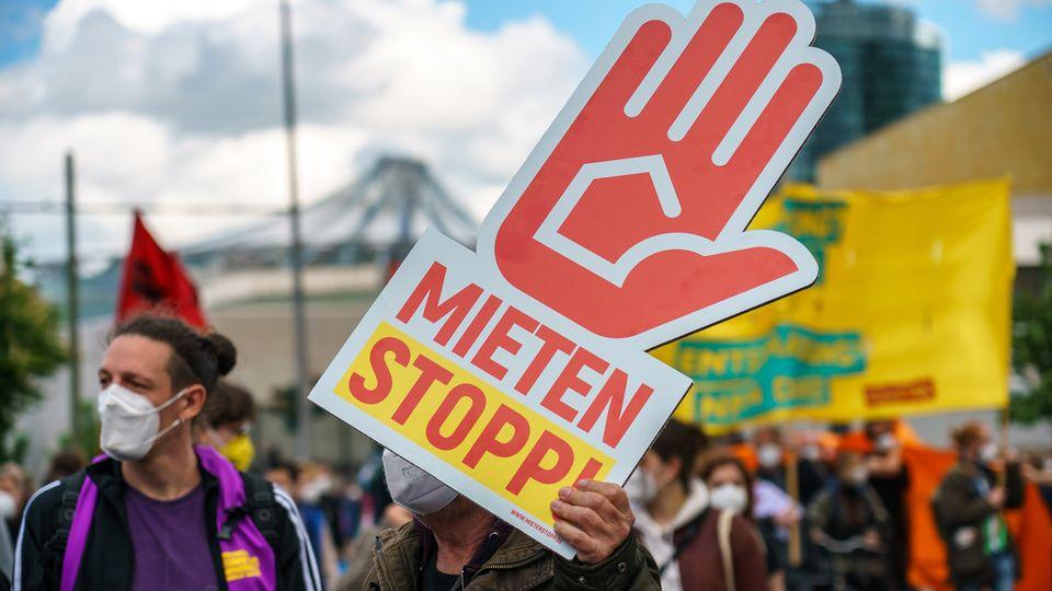 Mieterprotest in Berlin im Mai 2021