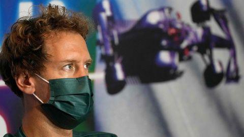 Sebastian Vettel auf einer Pressekonferenz