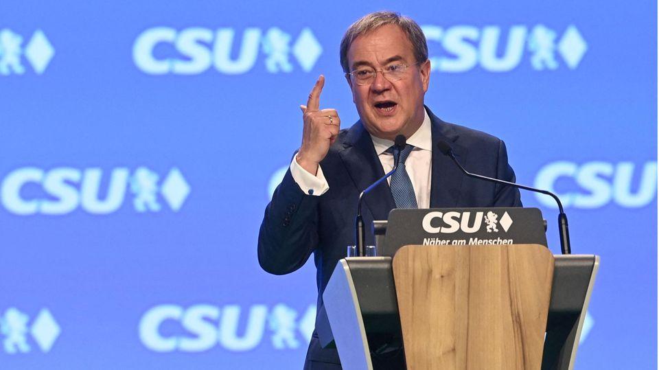 Armin Laschet auf dem CSU-Parteitag