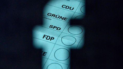 Der Ausschnitt eines Wahlzettels