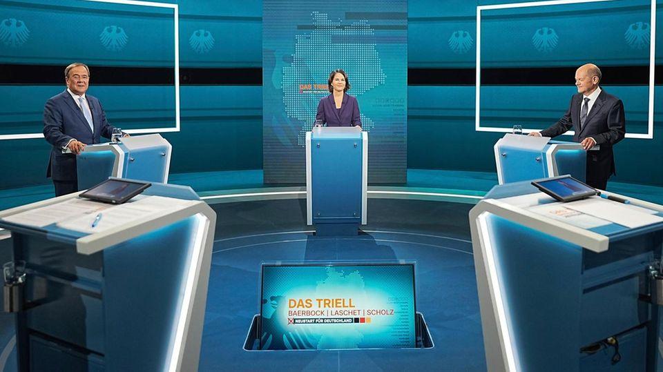 TV-Triell am Sonntag mit Baerbock, Laschet und Scholz