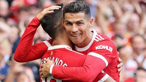 Cristiano Ronaldo Bruno Fernandes Man Utd 2021-22