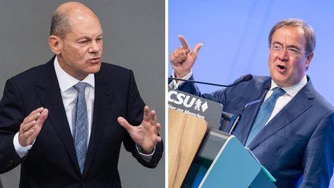 Armin Laschet und Olaf Scholz vor dem TV-Triell