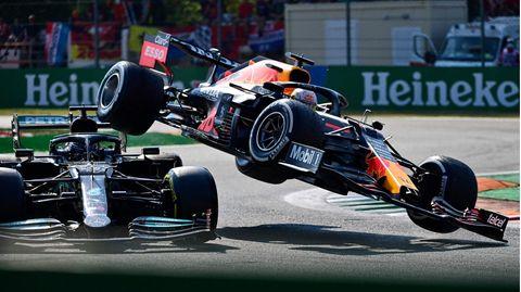 F1-Crash von Monza Abflug