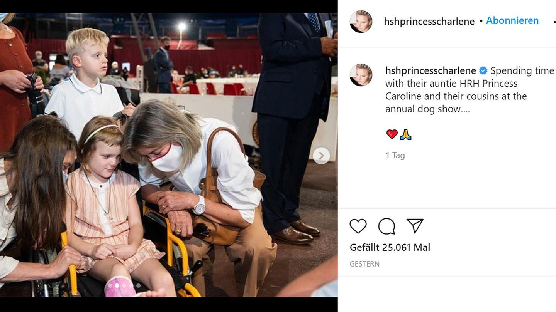 Vip News: Fürstin Charlène postet Fotos von Tochter Gabriella mit Gipsbein