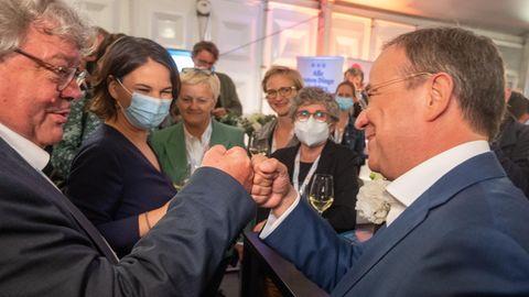 Laschet und Baerbock im Lager der Grünen