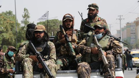 Taliban-Patrouille in Kabul