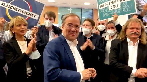 TV-Triell: Armin Laschet (CDU) mit Uschi Glas