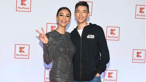 Verona Pooth mit ihrem älteren Sohn San Diego
