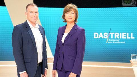 ARD-Chefredakteur Oliver Köhr und ZDF-Polittalkerin Maybrit Illner