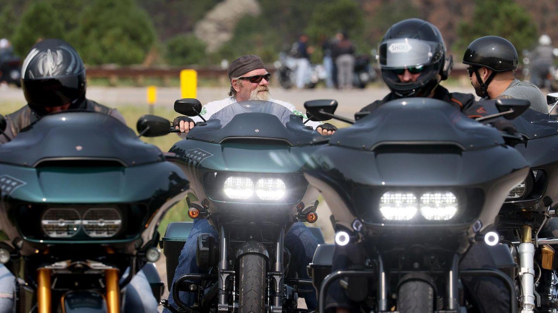 Biker auf ihren Motorrädern