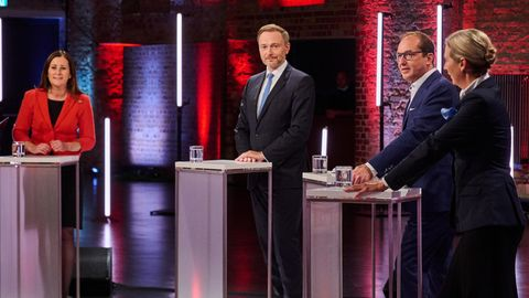 Der Vierkampf zur Bundestagswahl mit Janine Wissler, Christian Lindner, Alexander Dobrind und Alice Weidelin Berlin
