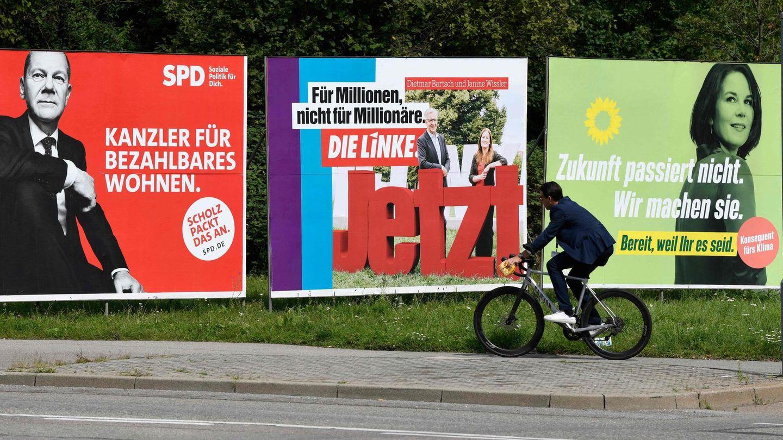 Rot-Rot-Grün auf Wahlplakaten