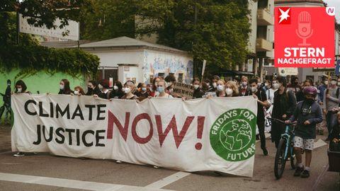 Fridays for Future auf einem Klimastreik